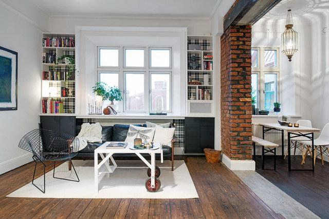 34 brick wall living room interior designs (10)