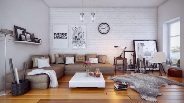 34 brick wall living room interior designs (15)