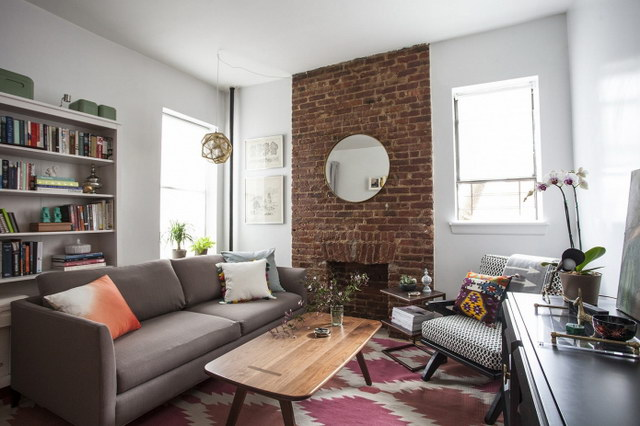 34 brick wall living room interior designs (16)