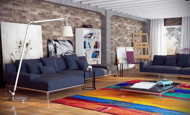 34 brick wall living room interior designs (2)