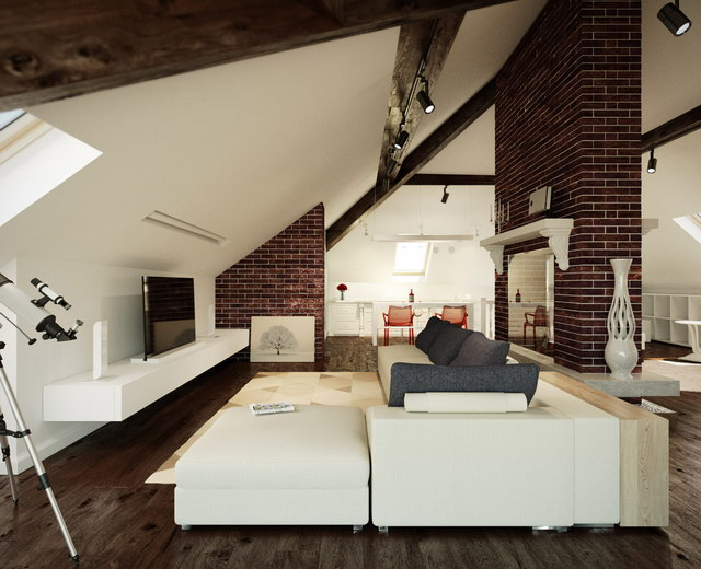 34 brick wall living room interior designs (27)