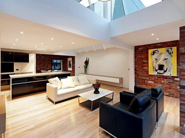 34 brick wall living room interior designs (31)