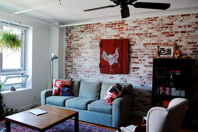 34 brick wall living room interior designs (33)