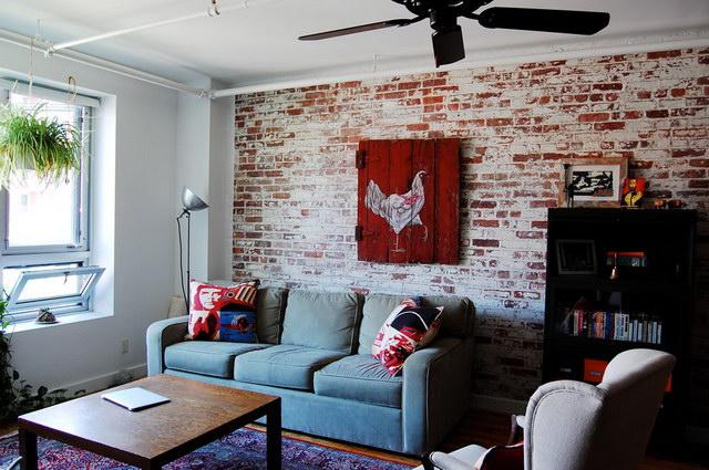 34 brick wall living room interior designs (33)
