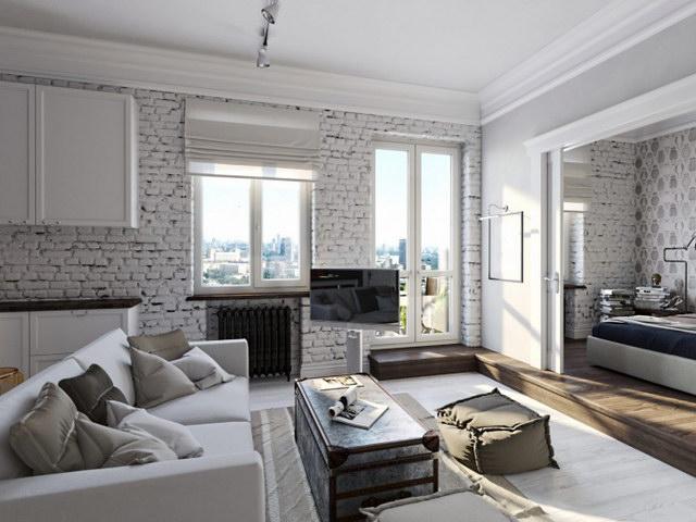 34 brick wall living room interior designs (4)