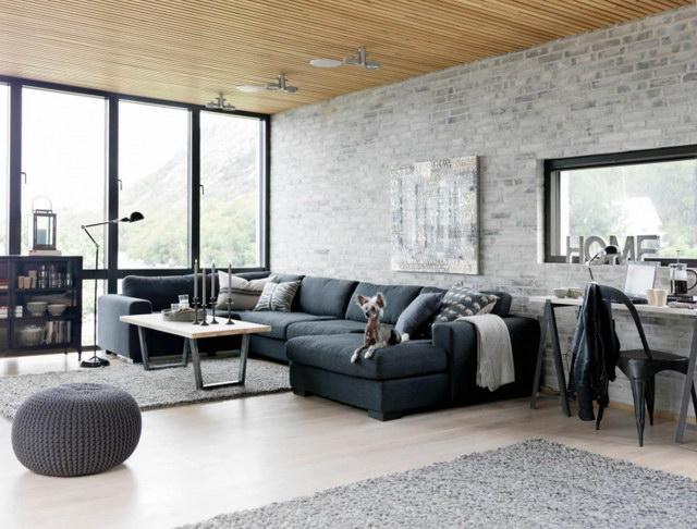 34 brick wall living room interior designs (6)