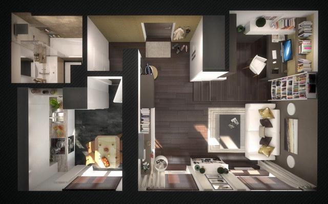 37 sqm modern studio apartment (1)