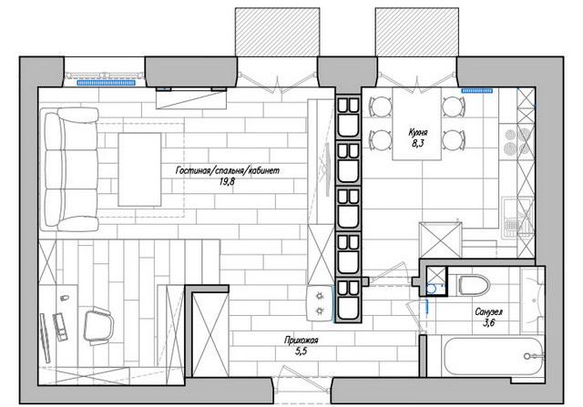 37 sqm modern studio apartment (12)