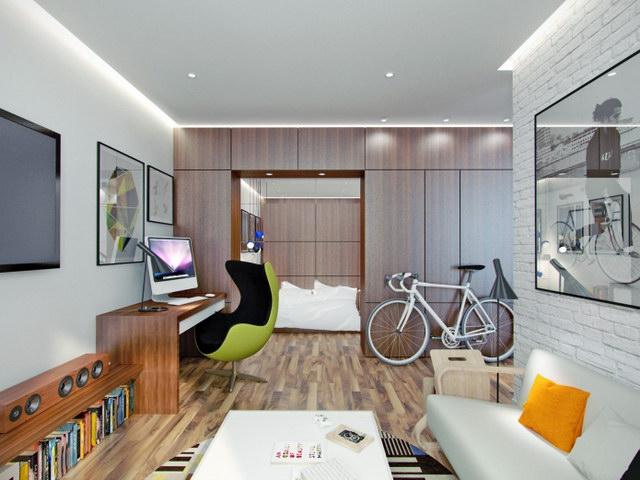 43 sqm walnut theme condominium review (1)