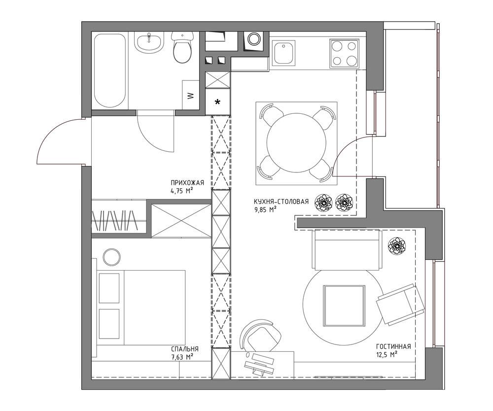 43 sqm walnut theme condominium review (14)