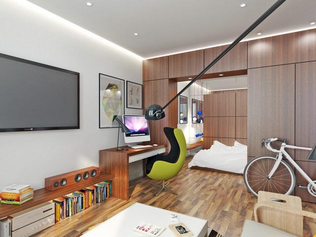 43 sqm walnut theme condominium review (2)
