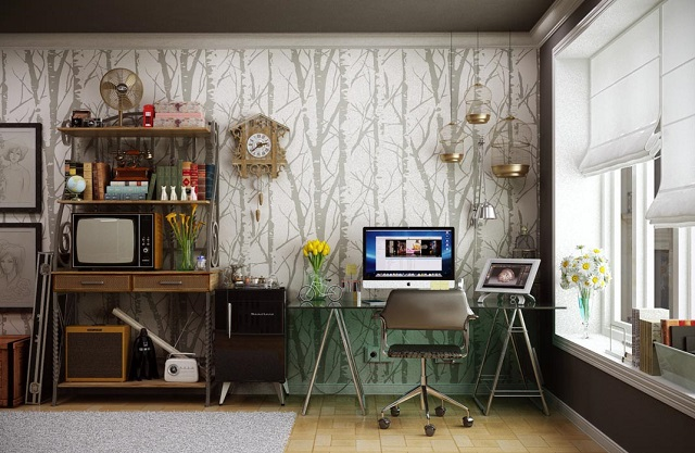 Attractive-and-Stunning-Retro-Home-Office-Decoration-Ideas-Vintage-Office-Decorating-Ideas-Home-And-Interior-Design-Ideas