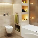 Review : พาไปชมห้องน้ำที่ทันสมัยสุดๆ ตกแต่งในโทนสีน้ำตาล สร้างกลิ่นอายแบบฤดูใบไม้ผลิ