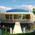 """สุดยอดนวัตกรรม!! """"บ้านอีโคลอยน้ำ""""ผลิตไฟฟ้าใช้เองได้ พร้อมด้วยดีไซน์ล้ำสมัย"""