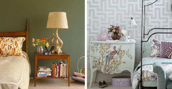 retro-vs vintage bedroom
