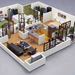 ห้ามพลาด… รวม 50 แบบแปลน 3 มิติ สำหรับบ้าน/คอนโด ขนาด 2 ห้องนอน