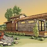 บ้านคอทเทจชีวิตติดธรรมชาติ ออกแบบกะทัดรัดพอดี ในงบ 250,000 บาท