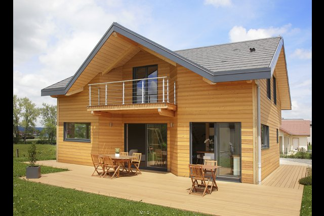 wooden house modern country style (1)