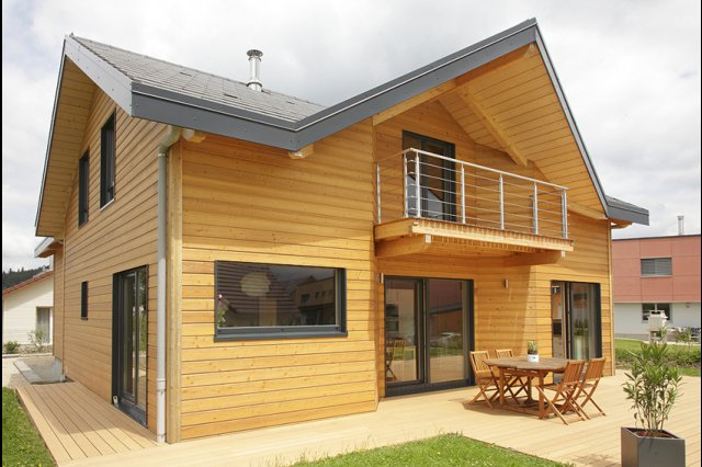 wooden house modern country style (2)