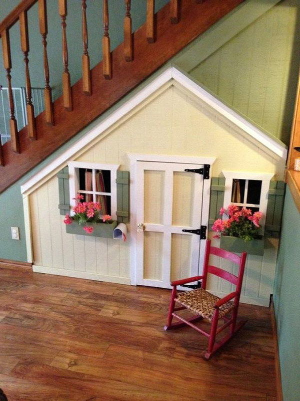 cute-and-small-playhouses-under-stairs