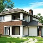 บ้านขนาดกลาง 2 ชั้น วัสดุตกแต่งจากอิฐโชว์แนว