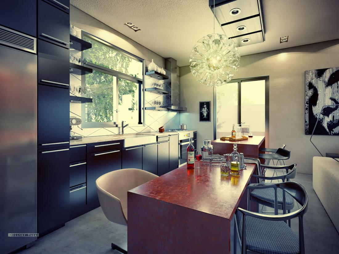 1-floor-contemporary-house-with-industrial-retro-interior (2)