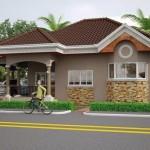 บ้านขนาดเล็ก ใช้สีเอิร์ธโทน ความอบอุ่นของครอบครัวสมัยใหม่