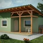 บ้านเล็กหลังสวน รูปทรงและโทนสีสมัยใหม่ ความสุขที่เรียบง่ายของบ้านชนบท