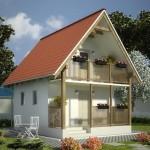 บ้านหลังคาจั่วสองชั้น วัสดุตกแต่งจากไม้ ความสุขที่อยู่ในรูปของบ้านหลังเล็ก