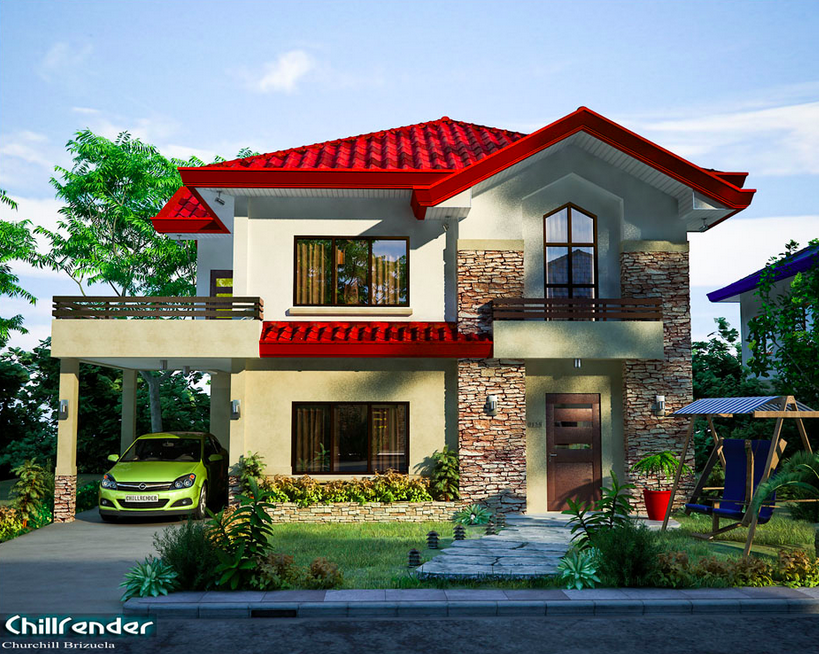2 storey modern house with nice balcony (1)