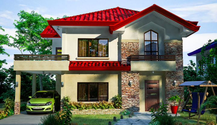 2 storey modern house with nice balcony (2)