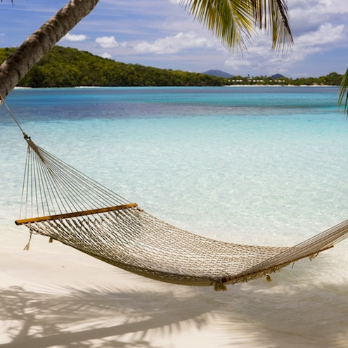 hammock at the tropical Caribbean beach