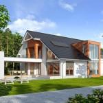 บ้านร่วมสมัย ดีไซน์สวย มาพร้อมกับสนามหญ้าและสระว่ายน้ำ