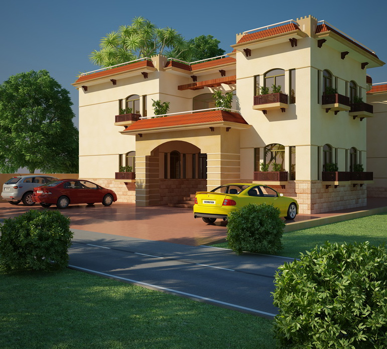 7 open space double storey house designs (3)