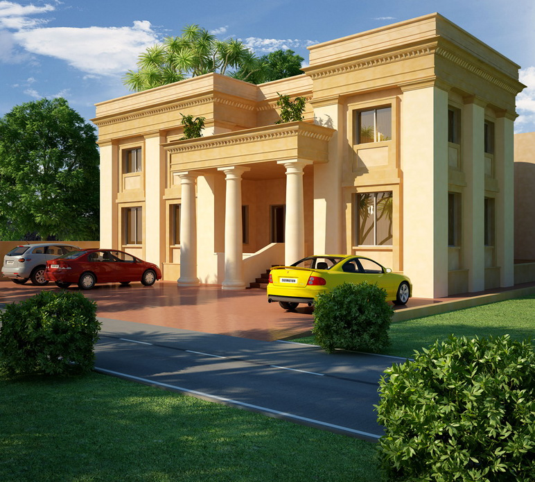 7 open space double storey house designs (4)