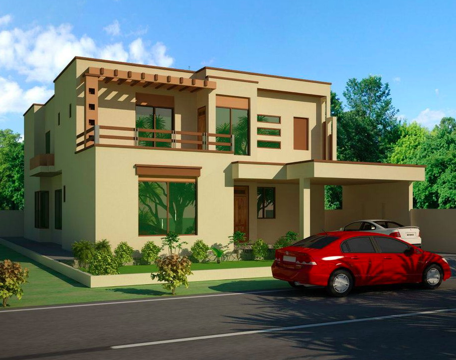 7 open space double storey house designs (7)