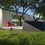 บ้านตากอากาศขนาดเล็ก ดีไซน์รูปทรงล้ำสมัย เหมาะสำหรับทำเป็นสตูดิโม รวมทั้งแบบรีสอร์ท