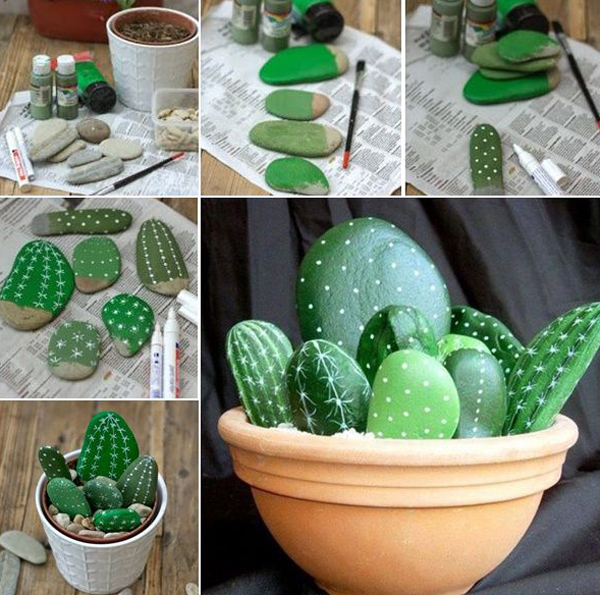 DIY-cacti-garden-stone-projects