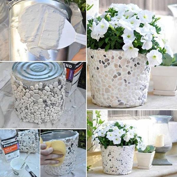 DIY-rock-bucket-planters