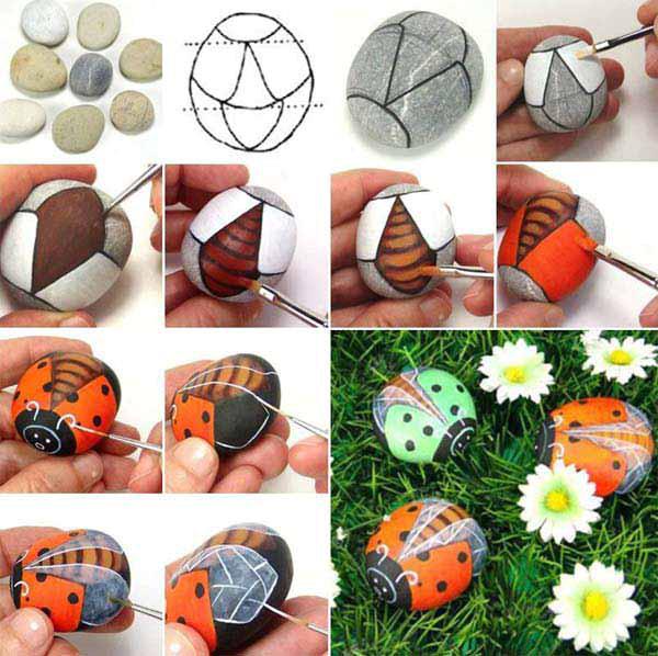 DIY-rock-garden-ladybug