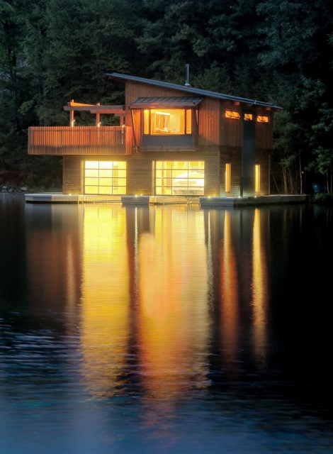 Evening-Lights-on-the-Water-Boathouse-Muskoka-Lakes-Ontario