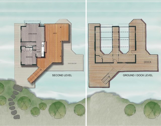 Ground-Dock-Second-Level-Plans-Boathouse-Muskoka-Lakes-Ontario