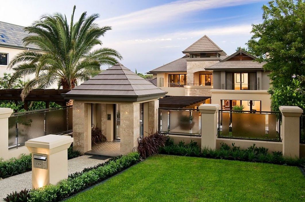 Modern luxury stone house with pool_01