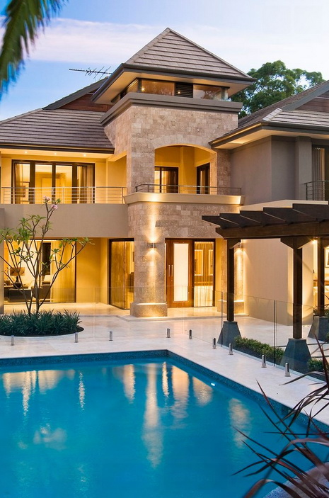 Modern luxury stone house with pool_06