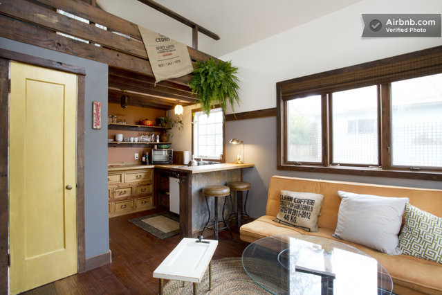 Rustic-Tiny-House-Portland-AirBnB-Living-Room-Kitchen-Humble-Homes