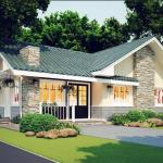 บ้านชั้นเดียวร่วมสมัย ตกแต่งภายนอกแบบจัดเต็ม ความสุขเพื่อครอบครับสมัยใหม่
