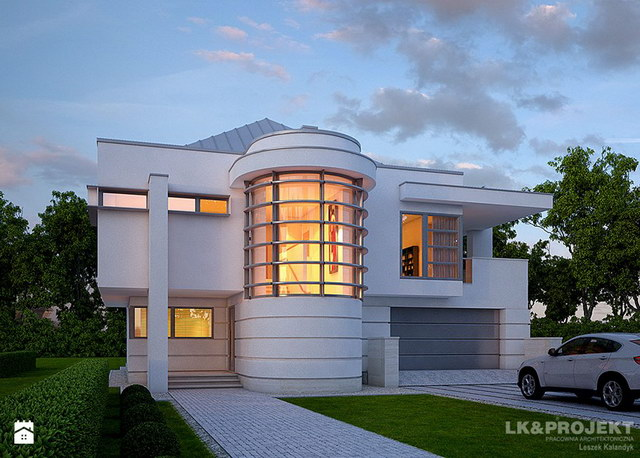 White Spectacular modern house (1)