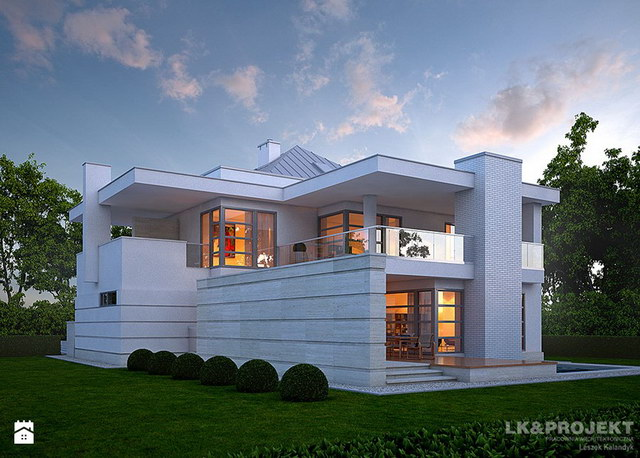 White Spectacular modern house (2)