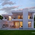บ้านโมเดิร์น รูปทรงซับซ้อน ดูมีมิติ พร้อมการใช้ชีวิตที่โปร่งโล่งสะดวกสบาย