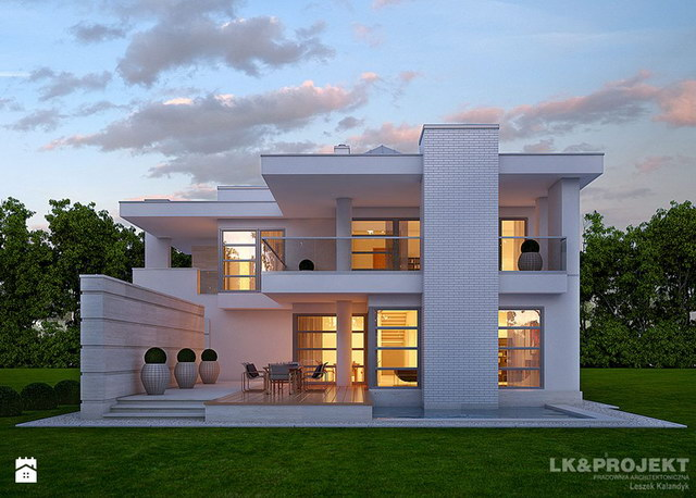 White Spectacular modern house (3)